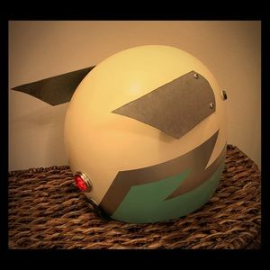 Motorcycle Helmet with light Retro Vintage Styling